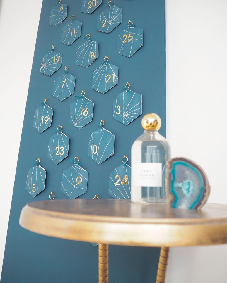 DIY calendrier de l'avent noel art deco par kraft & carat