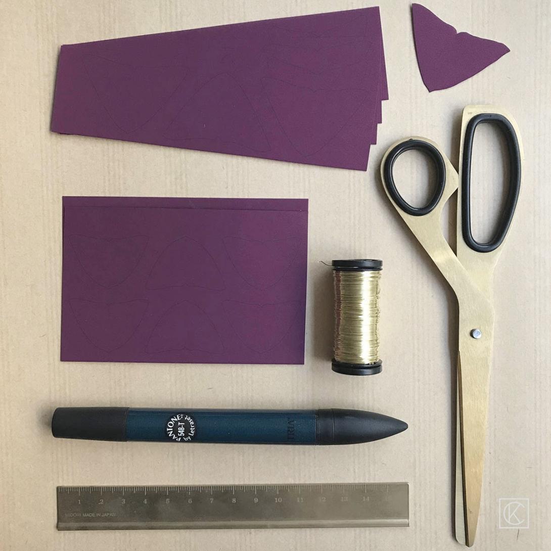 DIY PAPER OXALIS STEP BY STEP KRAFT&CARAT