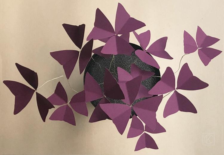 DIY OXALIS EN PAPIER BY KRAFT&CARAT