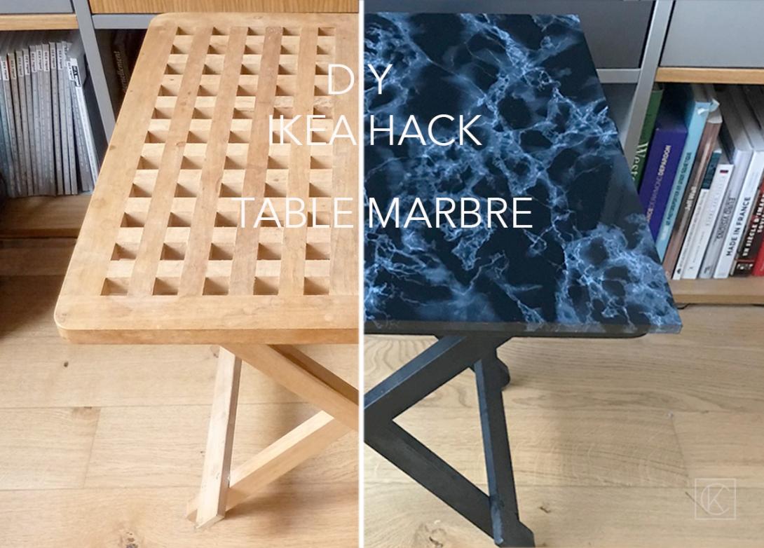 diy ikea hack transformer une table pliante kraft carat. Black Bedroom Furniture Sets. Home Design Ideas