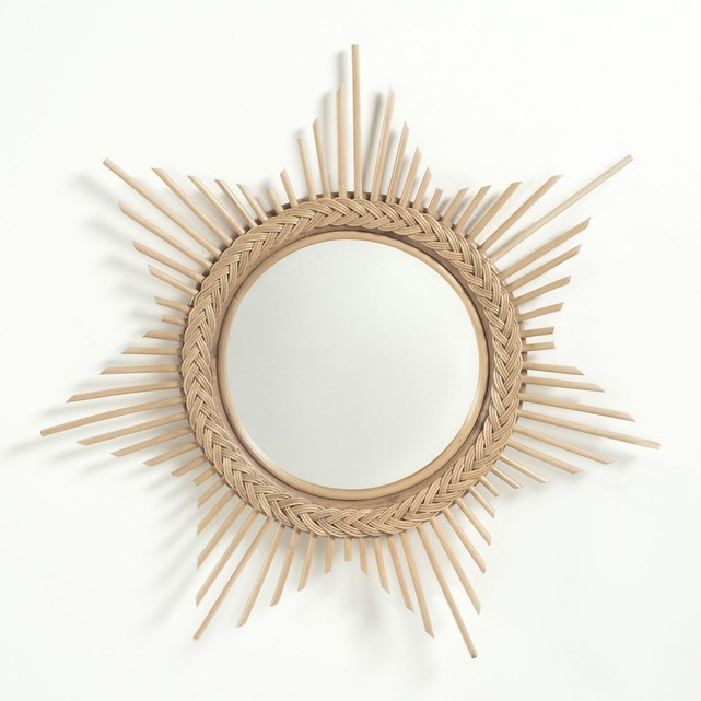 miroir rotin étoile