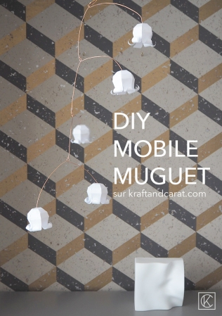 DIY MOBILE MUGUET PORTE BONHEUR 1ER MAI EN PAPIER ET MÉTAL / LILY OF THE VALLEY LUCKY MOBILE